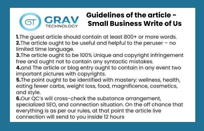 guidelines for writing article for grav technology