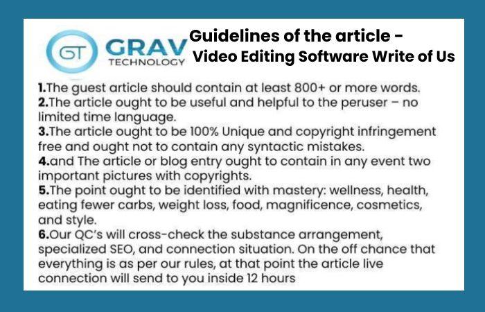 guidelines for writing article for grav technology (